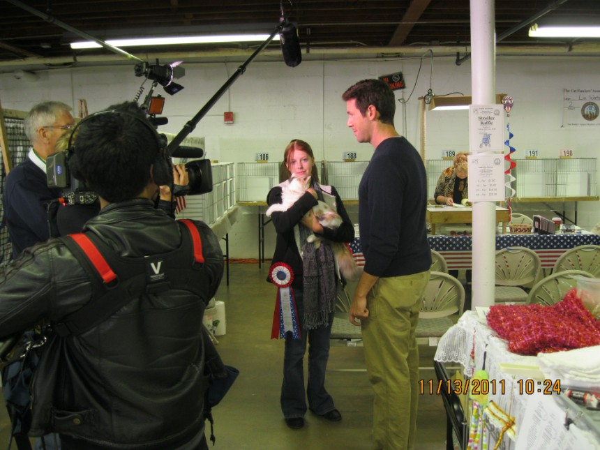 Martha Dillon being interviewed for Animal Planet